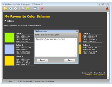 PCS Color Scheme Viewer Free Design Program Download